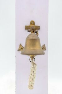 Antique Brass Finish Anchor Ship Bell Rope Nautical Maritime Decor Gift Item