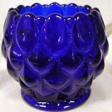 Candy Dish Rose Bowl - Elizabeth Quilted - Mosser USA - Cobalt Blue Glass