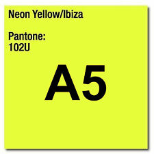 80 gsm A5 Coloraction printer & photocopier paper X 500 sheets NEON YELLOW IBIZA
