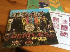 THE BEATLES SGT. PEPPERS LONELY HEARTS CLUB  LP & INSERT BLACK SILVER 2 BOX EMI