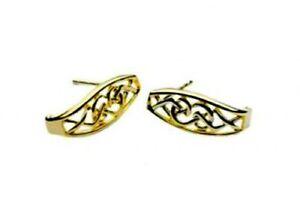 Ohrstecker Gold 10 Karat 416 Trinity Knot
