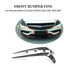 Carbon Fiber Front Bumper Splitter Fins for Mercedes Benz W218 CLS63 AMG 15-17