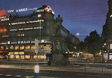 Postkarte - Zürich / Bahnhofsplatz und Bahnhofstrasse bei Nacht