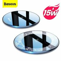 Baseus 15W Qi Wireless Charger Fast Charging Pad for Airpods iPhone 12 Pro Max