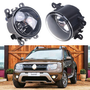 Pair Bumper Fog Light c Lamp w/Bulb Fit For Dacia Duster Sandero Logan 2004-2015