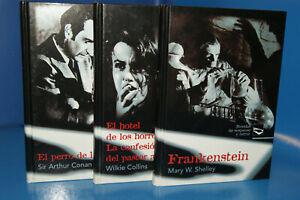 """3 Libros, colección """"Novelas de Suspense y Terror"""". Ed. Rueda."""