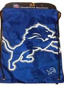 Detroit Lions NFL Forever Collectibles Big Logo Drawstring Backpack Blue