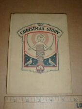 VTG Christmas Story Old Children's Christmas Storytelling 1934 Color Pictures HC