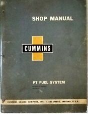 1959 CUMMINS Shop Manual PT FUEL SYSTEM  # 983334-D with Separate Chart