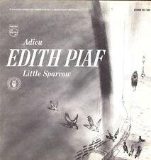 ADIEU EDITH PIAF Little Sparrow Très RARE 33T LP PRESS.USA LIVRET Luxe 10 PAGES