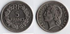 TRES RARE MONNAIE DE 5 FRANCS LAVRILLIER NICKEL DE 1938 @ RARE @ QUALITE @ RARE
