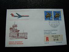 SUISSE - enveloppe 5/4/1967 (zurich/bukarest) (cy22) switzerland