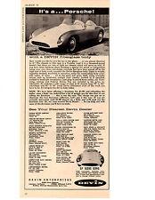 1958 DEVIN KIT CAR  ~   VINTAGE ORIGINAL PRINT AD