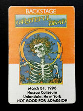Grateful Dead Backstage Pass Bertha Mouse Kelley FD-26 Poster Art 3/31/1993 NY