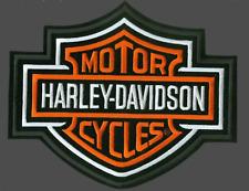 HARLEY DAVIDSON ORANGE BARSHIELD  PATCH (XXL) PATCH