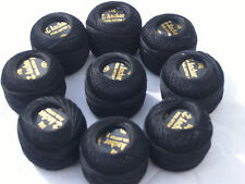 10 Black ANCHOR Pearl Cotton Balls.Size 8,85 Meters each