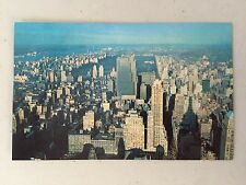 VINTAGE NEW YORK CITY LOOKING NORTH FROM EMPIRE STATE BUILDING 1957 POSTCARD