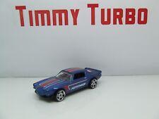 Camaro 1970 arrastre en azul metálico Hot Wheels 1:64 Como Nuevo
