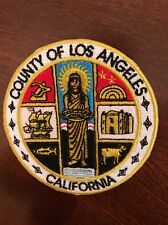 """County Of Los Angeles California Vintage Embroidered Iron Patch 3"""" X 3"""""""