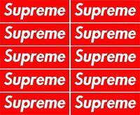 10 x Supreme Red Box Skateboard Sticker Blue retro Vw Car Honda Phone Guitar