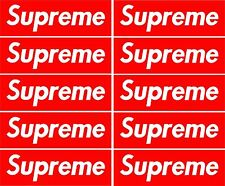 10 x Supreme Red Box Skateboard Sticker Blue retro Vw Car Honda Phone Guitar