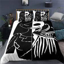 The Nightmare Before Christmas Jack Duvet Cover Pillowcases Bedding Set 3PCS