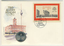 DDR Numisbrief 5 Mark 1987 Rotes Rathaus Berlin