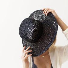 Lack of Color Women's Sunnydip Noir Woven Sun Hat M (44)