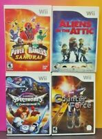 Nintendo Wii Wii U Game Lot Aliens Attic Counter Force Power Rangers Spectrobes