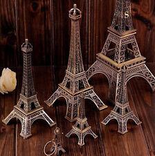 Vintage Alloy Bronze Paris Eiffel Tower Figurine Statue Model Decor 18cm A33X