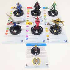 Heroclix Superman / Wonder Woman COMPLETE 6-figure Fast Forces + Object w/cards!
