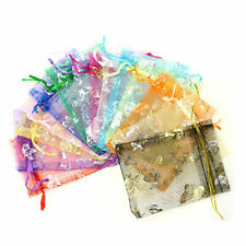 20/50/100x Organza Jewelry Candy Gift Pouch Bags Wedding Party Xmas Favors Decor