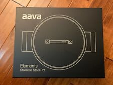 AAVA ELEMENTS STAINLESS STEEL CASSEROLE STOCK POT W/ LID NEW IN BOX $890