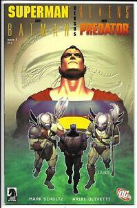 SUPERMAN AND BATMAN VERSUS ALIENS AND PREDATOR #1 NM DC COMICS DARK HORSE