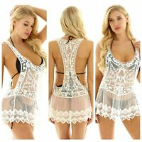 NEW Women Lace Crochet Bikini Cover Up Swimwear Bathing Suit Summer Beach Dress