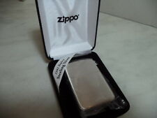 ZIPPO LIGHTER FEUERZEUG IN ARGENTO STERLING MOD ZIP 24 1941 REPLICA SATIN NEW