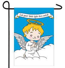 "ANGEL BOY PRAYING CHRISTIAN FAITH GARDEN BANNER/FLAG 12""X18"" SLEEVED POLY"