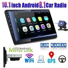 "1/2Din 10.1"" Car Stereo Radio GPS Navi WIFI Android 9.1 Head Unit BT FM + Camera"