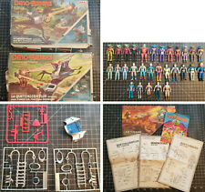 1987 Lot Dino Riders 2 Boites + 29 Figurine + Notices Quetzalcoatlus Deinonychus