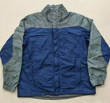 Eddie Bauer Blue/Gray Men's WEATHEREDGE Jacket Coat XL Tall Waterproof Rain Gear