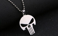 Acciaio Inox Marvel The Punisher Teschio Collana Con Ciondolo