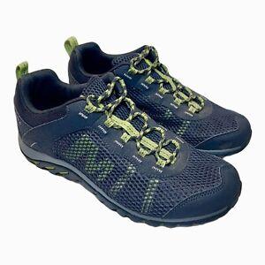 Merrell Ebony Oasis Men's Size 9 Gray Blue Riverbed Trail Hiking Shoes J301487C