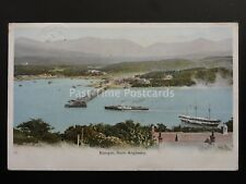 North Wales BANGOR PIER from Anglesey shows Steam Ferry La Marguerite c1904