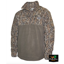 NEW DRAKE WATERFOWL TWO TONE MST CAMP FLEECE PULLOVER BOTTOMLAND CAMO 2XL