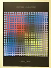VICTOR VASARELY,'ARNY,1967' RARE AUTHENTIC 1980's ART POSTER