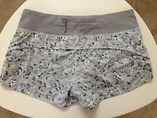 Lululemon petit fleur silver spoon speed shorts size 6