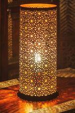 Marokkanische Orientalisch Tischlampe Lampe Tischleuchte Nachttischlampe Schwarz