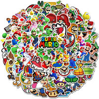 100 lot Super Mario Vinyl Stickers Bomb Decals skateboard luggage Laptop Car