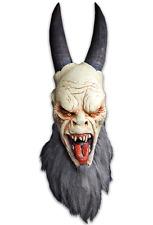 Halloween CHRISTMAS KRAMPUS HORNED DEMON ADULT LATEX DELUXE MASK COSTUME NEW