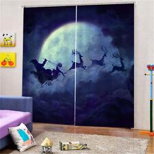 2x Blackout Insulated Window Curtains Pleated Drape Christmas Room Decor 22